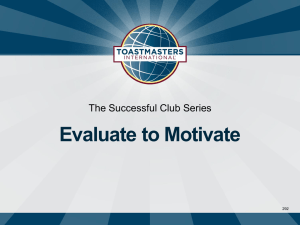Evaluate to Motivate The Successful Club Series 292