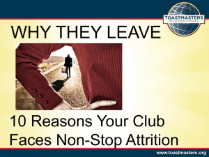 WHY THEY LEAVE 10 Reasons Your Club Faces Non-Stop Attrition