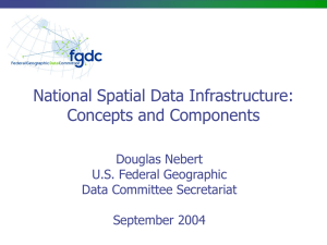 National Spatial Data Infrastructure: Concepts and Components Douglas Nebert U.S. Federal Geographic