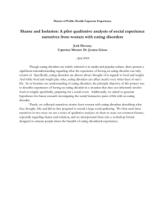 Shame and Isolation: A pilot qualitative analysis of social experience