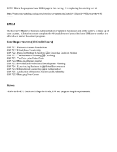 NOTE: This is the proposed new EMBA page in the...