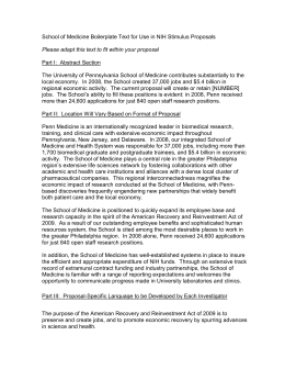 School of Medicine Boilerplate Text for Use in NIH Stimulus...  Part I:  Abstract Section