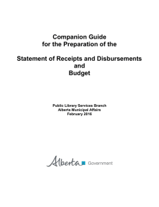 Companion Guide for the Preparation of the Statement of Receipts and Disbursements