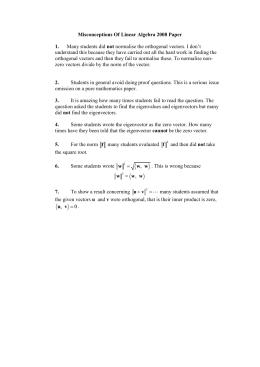Misconceptions Of Linear Algebra 2008 Paper  1. not