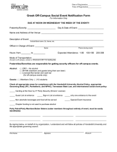 Greek Off-Campus Social Event Notification Form