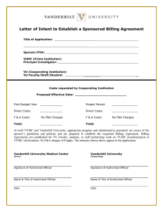 Letter of Intent to Establish a Sponsored Billing Agreement
