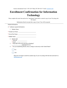 Enrollment Confirmation for Information Technology