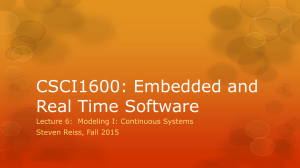 CSCI1600: Embedded and Real Time Software Steven Reiss, Fall 2015