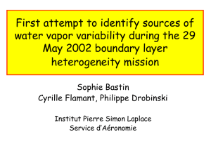 First attempt to identify sources of May 2002 boundary layer heterogeneity mission