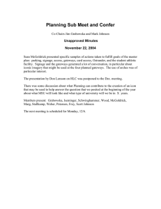 Planning Sub Meet and Confer  Unapproved Minutes November 22, 2004