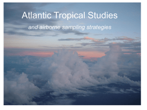 Atlantic Tropical Studies and airborne sampling strategies