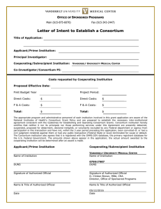 Letter of Intent to Establish a Consortium O S