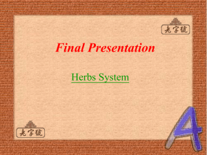 Final Presentation Herbs System