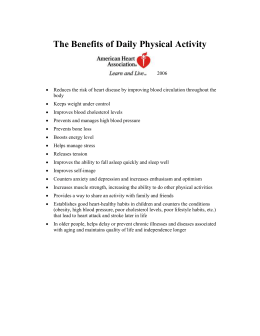 The Benefits of Daily Physical Activity