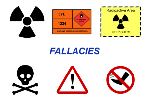FALLACIES Radioactive Area 3YE 1234