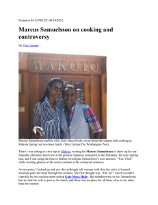 Marcus Samuelsson on cooking and controversy