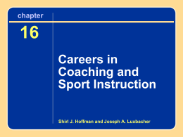 16 Careers in Coaching and Sport Instruction