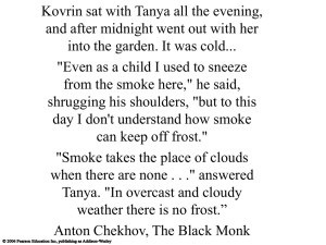 Kovrin sat with Tanya all the evening,