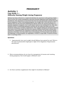PREGNANCY Activity 1 Case Study 1— Difficulty Gaining Weight during Pregnancy