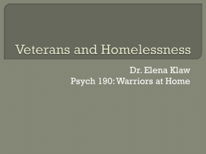 Dr. Elena Klaw Psych 190: Warriors at Home