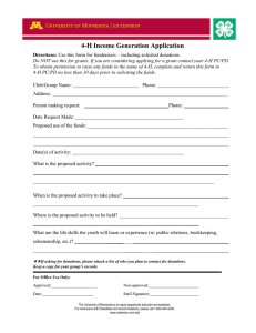 4-H Income Generation Application