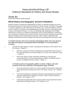 History/Antr/SocS/Geog 139 California Standards for History and Social Studies  Grade Six