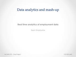 Data analytics and mash-up Real time analytics of employment data Team Shadowfax 7/27/2016