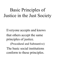 Basic Principles of Justice in the Just Society