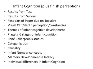 Infant Cognition (plus finish perception)