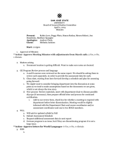 Board of General Studies Committee April 2, 2015 Minutes