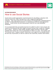 How to use Social Stories AUTISM RESOURCES