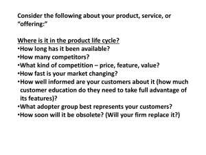 "Consider the following about your product, service, or ""offering:"""