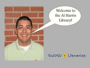 Welcome to the Al Harris Library!