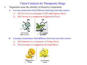 Chiral Catalysis for Therapeutic Drugs I.
