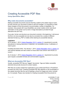 Accessible word document checklist for Accessible pdf documents