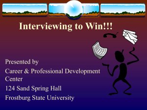 Interviewing to Win!!!