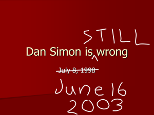 Dan Simon is wrong July 8, 1998