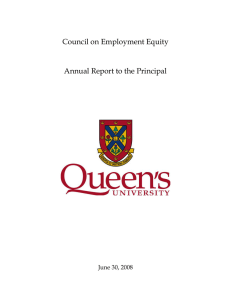Council on Employment Equity  Annual Report to the Principal June 30, 2008