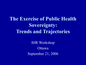 The Exercise of Public Health Sovereignty: Trends and Trajectories IHR Workshop
