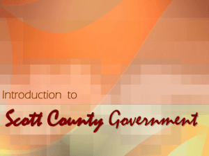 Scott County Government Introduction  to