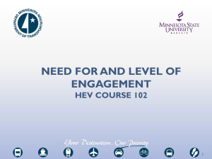 NEED FOR AND LEVEL OF ENGAGEMENT HEV COURSE 102 1