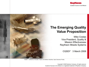 The Emerging Quality Value Proposition
