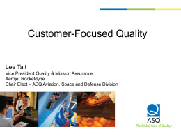 Customer-Focused Quality Lee Tait