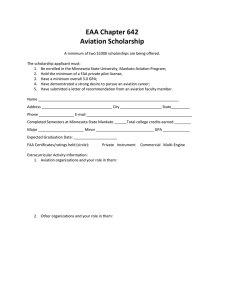 EAA Chapter 642  Aviation Scholarship