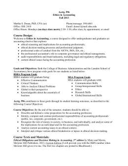 Ethics in accounting essay