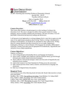 Writing p.1  TE 640: Assessing and Teaching Writing in Elementary Schools