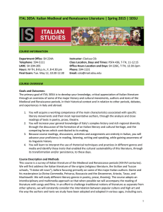 ITAL 305A: Italian Medieval and Renaissance Literature | Spring 2015 |...