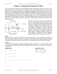 Problem 5: Communication Planning for Phobos