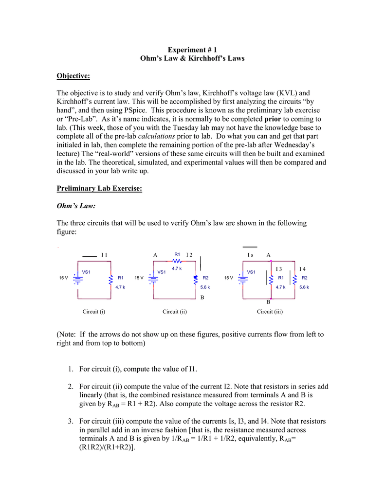 The Objective Is To Study And Verify Ohms Law Kirchhoffs V Linear Resistance Meter Circuit