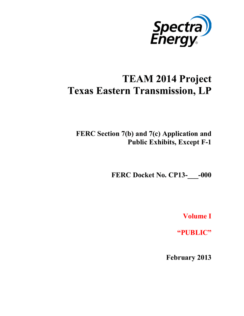 TEAM 2014 Project Texas Eastern Transmission, LP